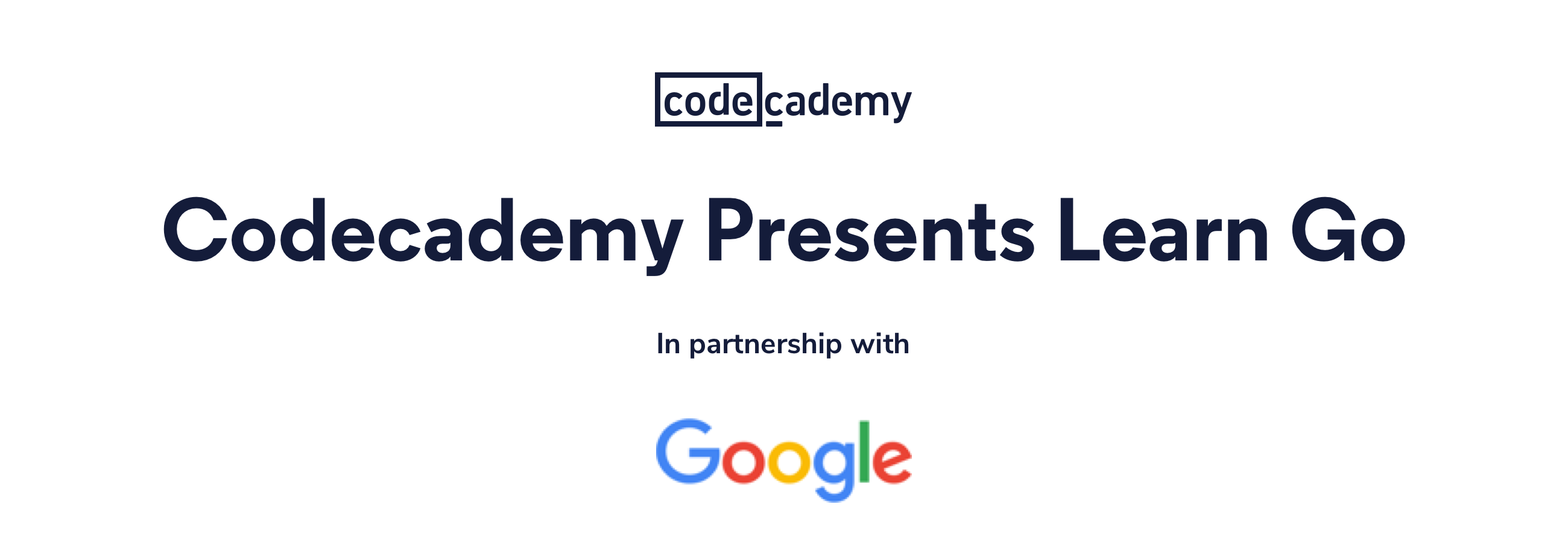 Codeacdemy Presents Learn Go in Partnership with Google